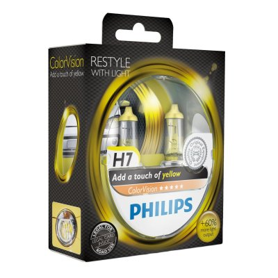 PHILIPS H7 12V 55W C VISION YELLOW